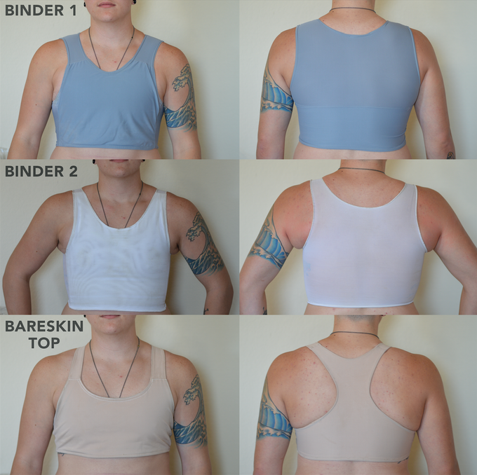 chest binder before and after