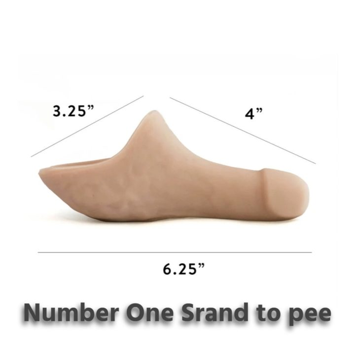 Number one stand to pee prosthetic